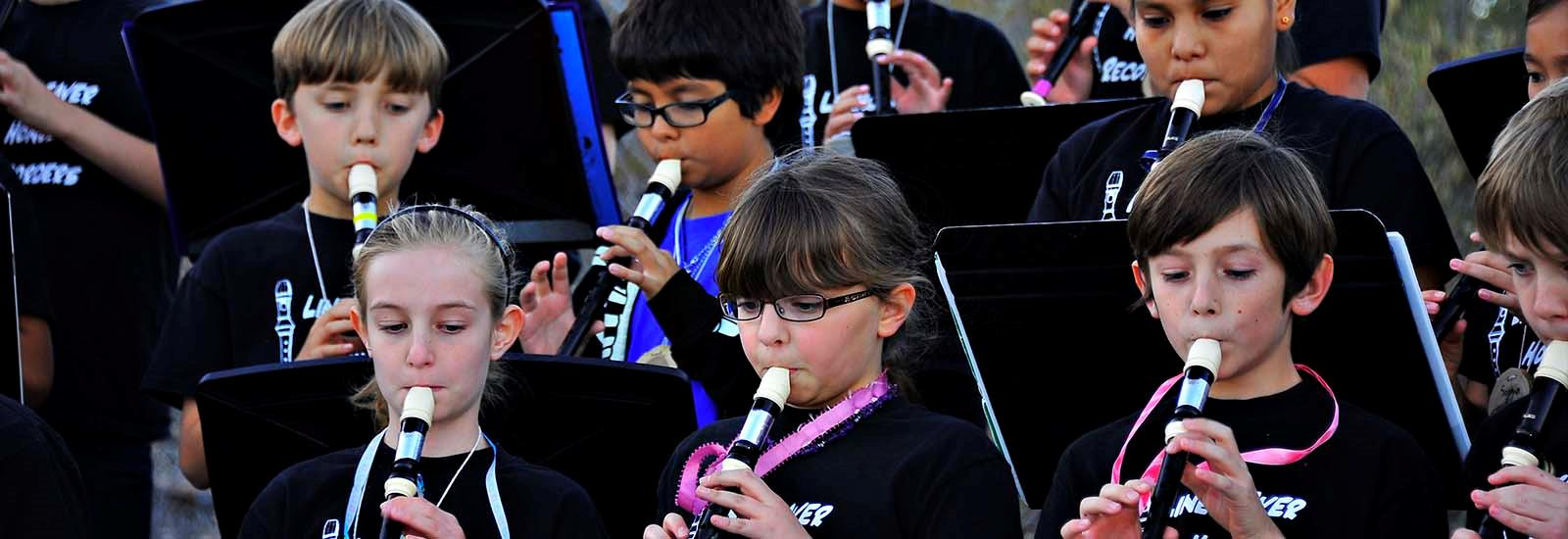 Our recorder choir performs often.
